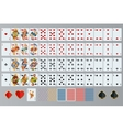 Playing cards set Poker cards full set vector image