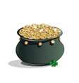 St Patricks Day Pot of gold vector image