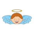 angel boy character icon vector image