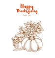 Thanksgiving vegetables harvest retro greeting vector image vector image
