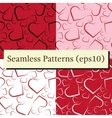Seamless pattern set with white red and black vector image