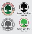 Family Care Tree Logo vector image