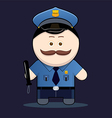 cute policeman with truncheon vector image vector image