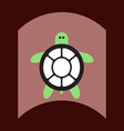 flat icon design collection sea turtle vector image