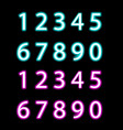 set of neon numbers isolated vector image