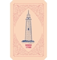 Lighthouse card Organized by layers vector image vector image