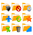 3d folder icons vector image
