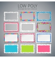 Low Poly Rectangle Banners Set vector image vector image