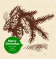 Christmas background with hand drawn vector image