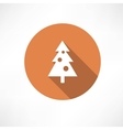 Christmas tree with toys icon vector image