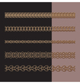 Gold chains set vector image