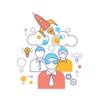 Teamwork Linear Colored Composition vector image