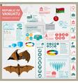 Vanuatu infographics statistical data sights vector image