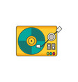 vinyl player flat vector image