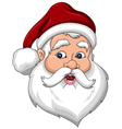 Confused Santa Claus Face Side View vector image