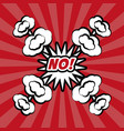 no pop art comic bubble speech vector image