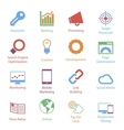 Color Internet Marketing Icons Vol 1 vector image