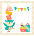 Owl birthday party vector image