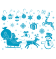 Set of Christmas stencils vector image