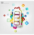 Full battery icon Application buttonSocial media vector image