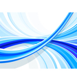 blue curved background vector image