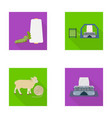cotton coil thread pest and other web icon in vector image