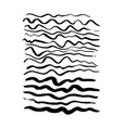 hand drawn wave brush strokes vector image
