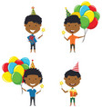 happy african-american boys carrying colorful vector image
