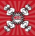 no pop art comic bubble speech vector image