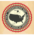 Vintage label with Independence Day of USA vector image
