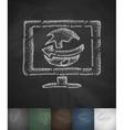 world logistic icon Hand drawn vector image