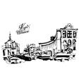 marker drawing of Khreshchatyk the main street of vector image vector image
