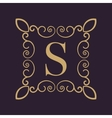 Monogram letter S Calligraphic ornament Gold vector image