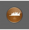 City wood application icons vector image vector image
