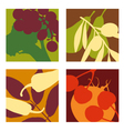 abstract vegetable and fruit designs set 1 vector image vector image