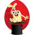 Magic Easter Bunny Cartoon vector image vector image