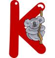 K for koala vector image vector image