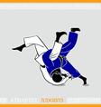 Athlete judoists vector image