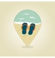 Flip Flops pin map icon Summer Beach Sun Sea vector image