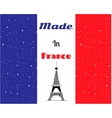 Black Eiffel tower France flag vector image
