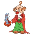 Clown magician with a rabbit vector image