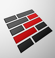 Emblem of the bricks vector image