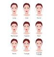 Face type infographics vector image