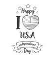 independence day hand draw style card vector image