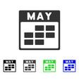 may calendar grid flat icon vector image