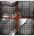metal background set vector image