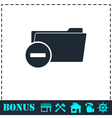 Remove Folder icon flat vector image