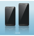Responsive smart phone mock up vector image
