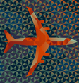 Geometric Airplane vector image vector image