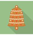 Gingerbread Bell vector image